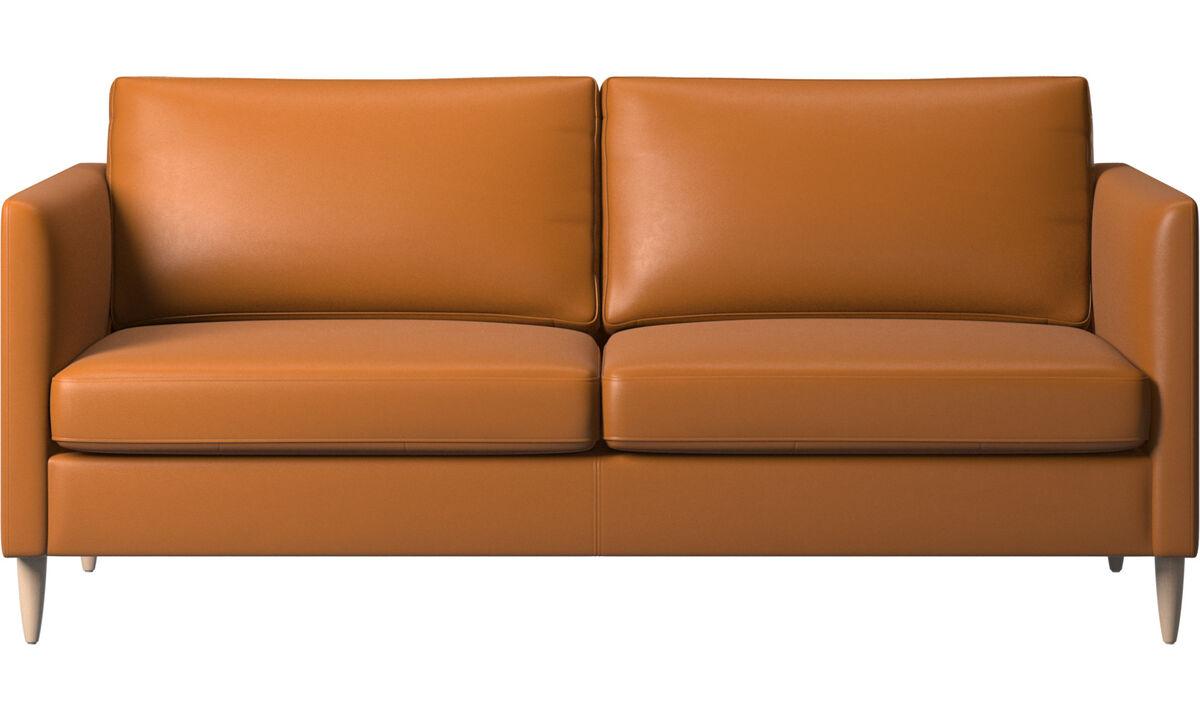 2½-sitzer Sofas - Indivi Sofa - Braun - Leder