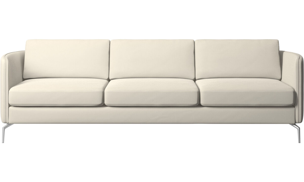 3 seater sofas - Osaka sofa, regular seat - White - Fabric