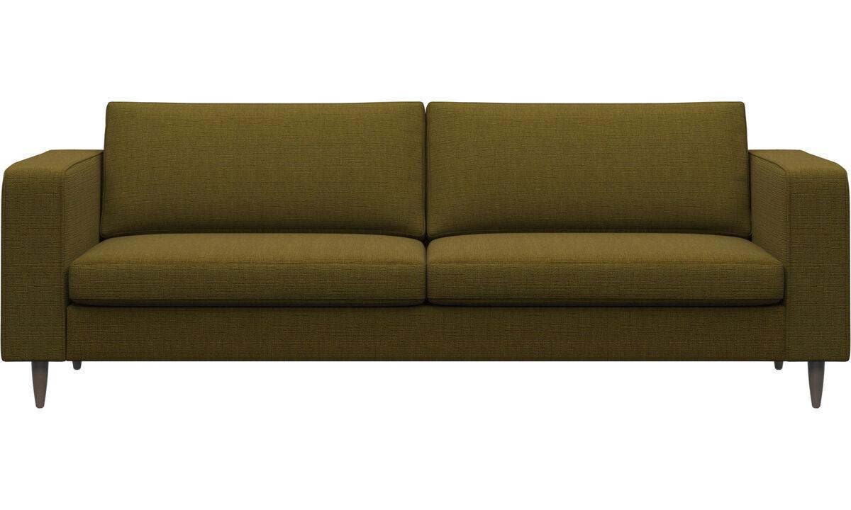 Sofas - Indivi 2 sofa - Yellow - Fabric