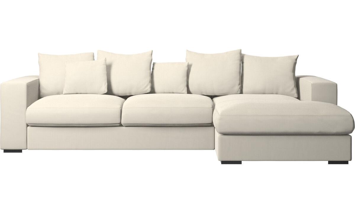 Chaise longue sofas - Cenova sofa with resting unit - White - Fabric
