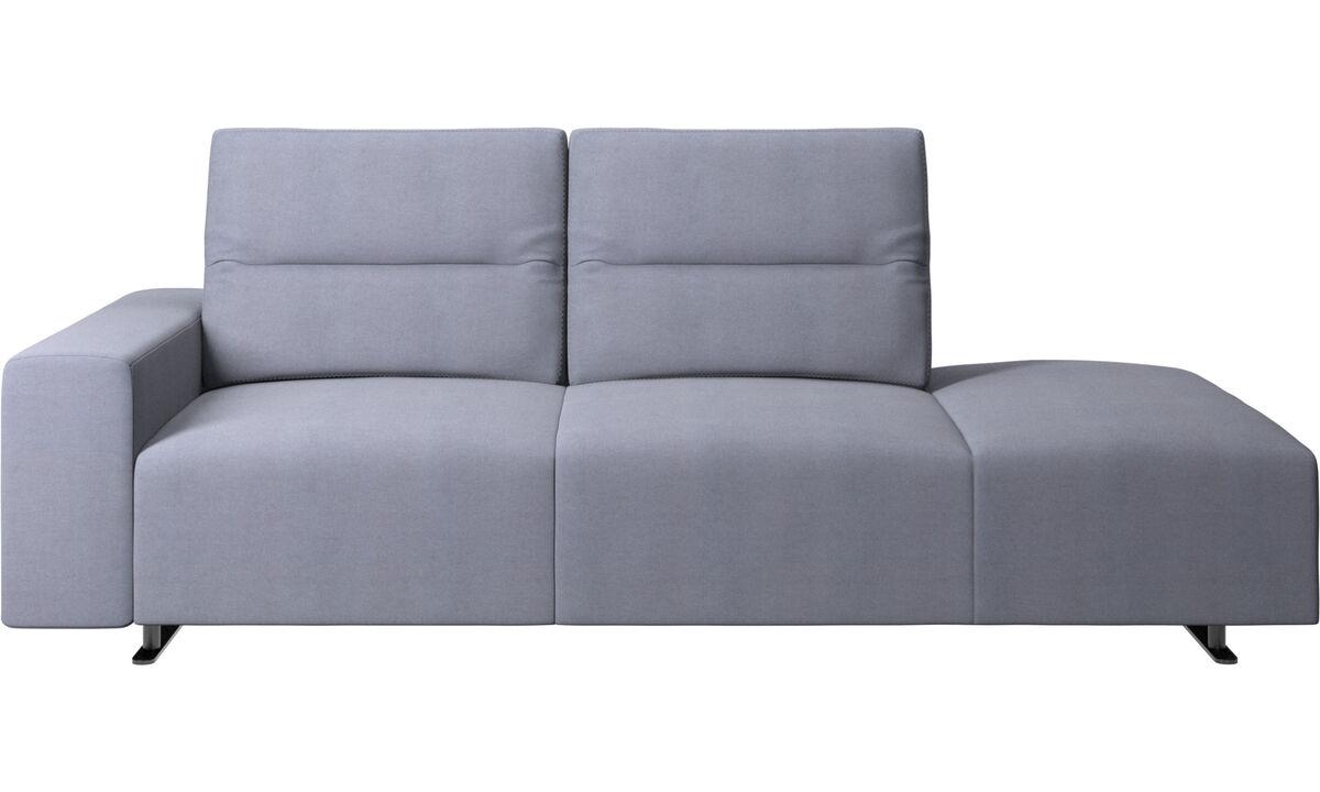 Sofás de 2 plazas - Sofá Hampton con respaldo ajustable - En azul - Tela