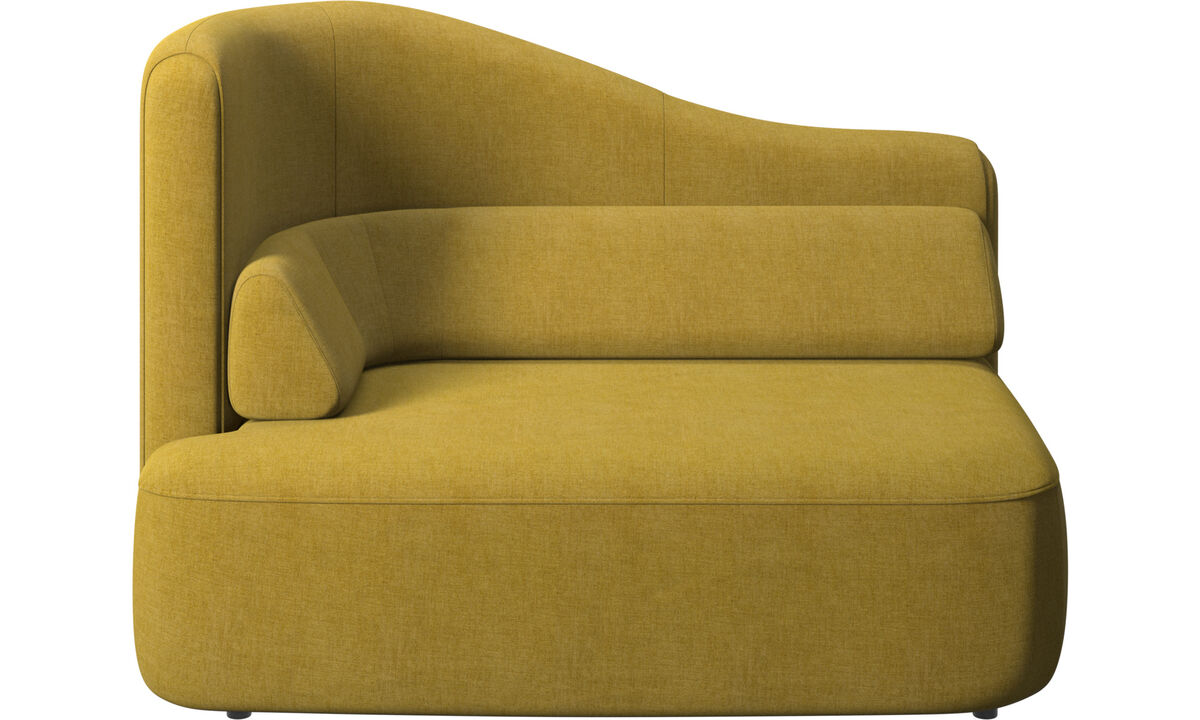 Modular sofas - Ottawa 1,5 seater left arm - Yellow - Fabric