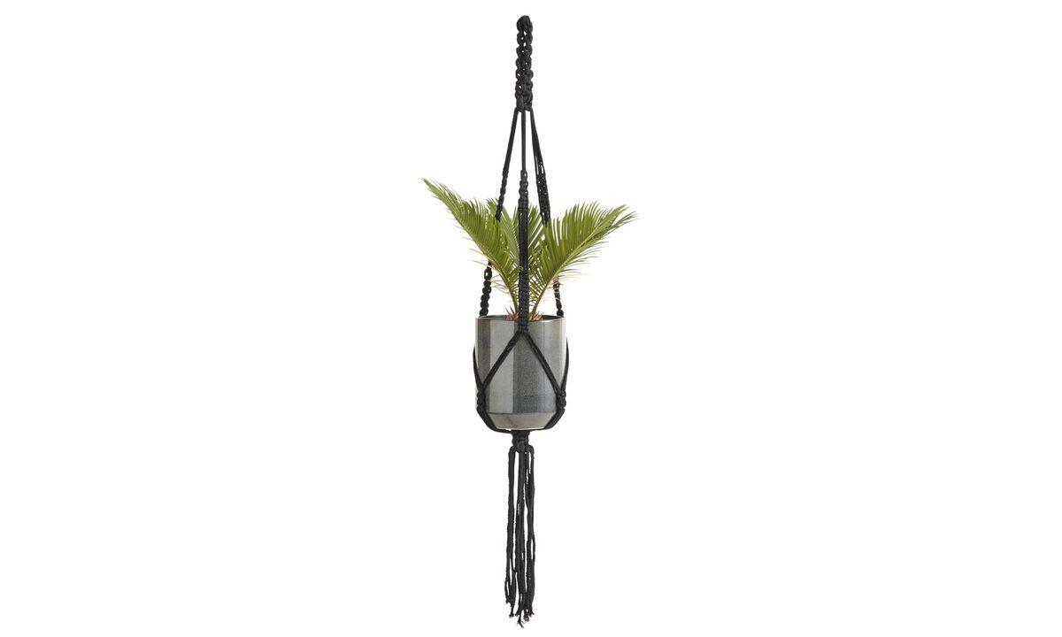 Flowerpots - Macrame Flowerpot - Black - Stone