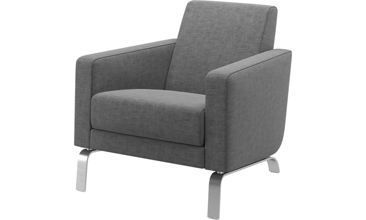 Fauteuils - fauteuil Fly - Gris - Tissu