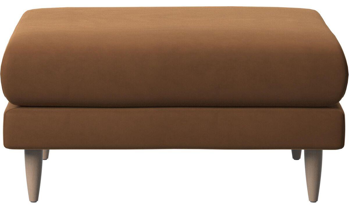 Footstools - Fargo footstool - Brown - Leather