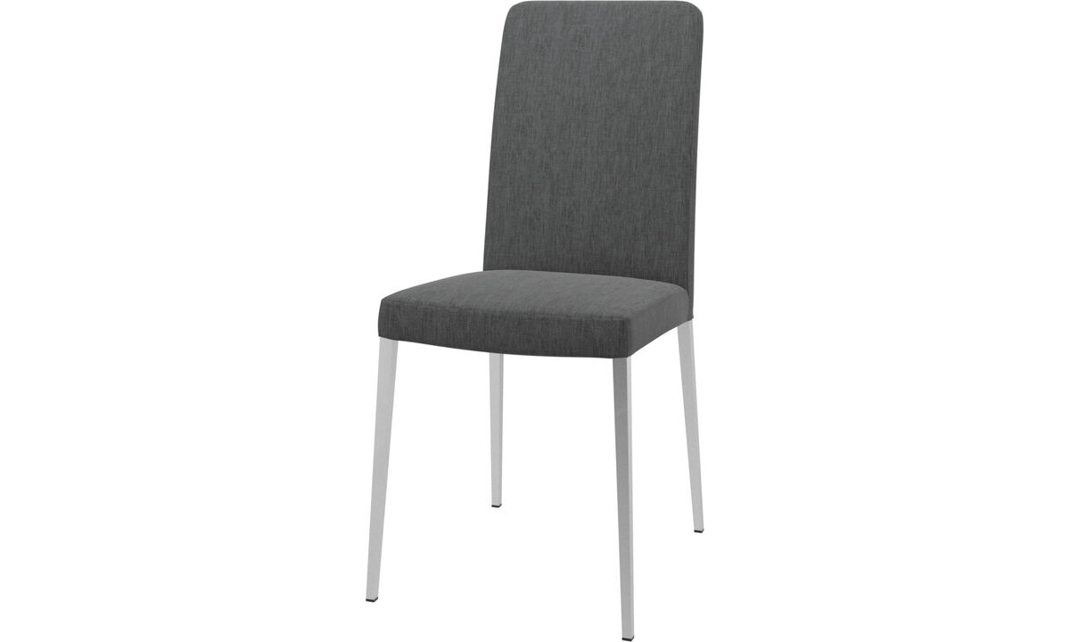 Dining chairs - Nico chair - Gray - Fabric