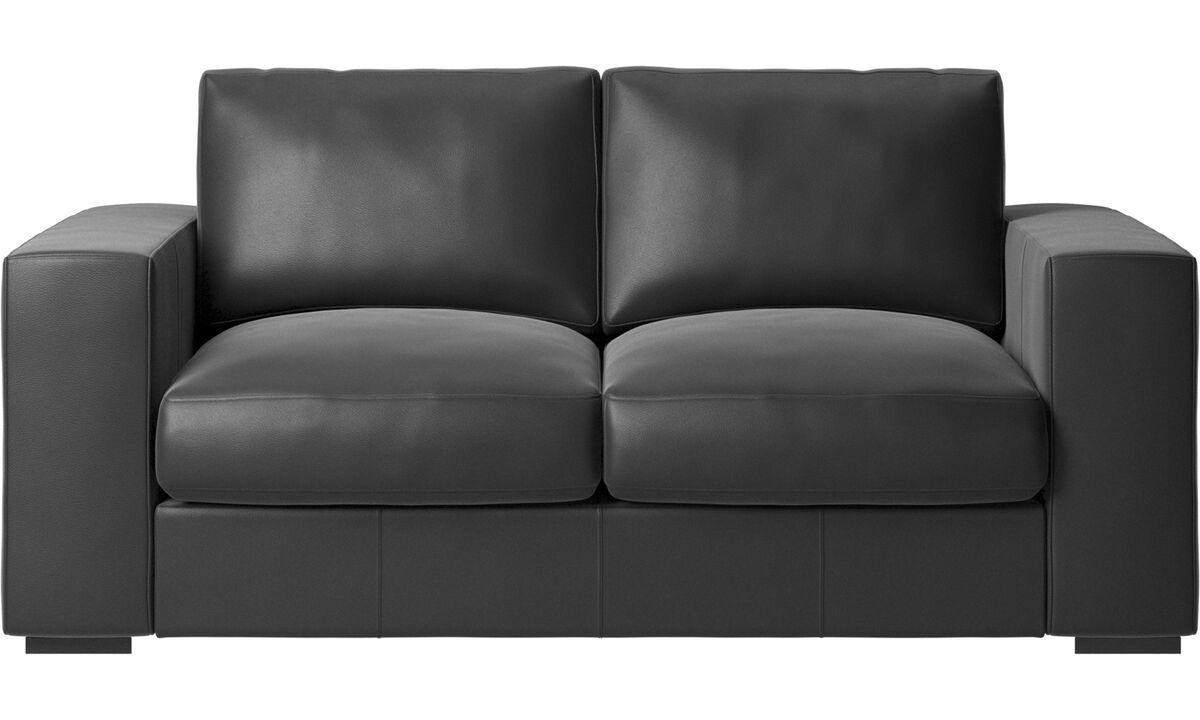 2 seater sofas - Cenova sofa - Black - Leather
