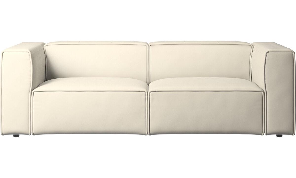 2.5 seater sofas - Carmo sofa - White - Leather