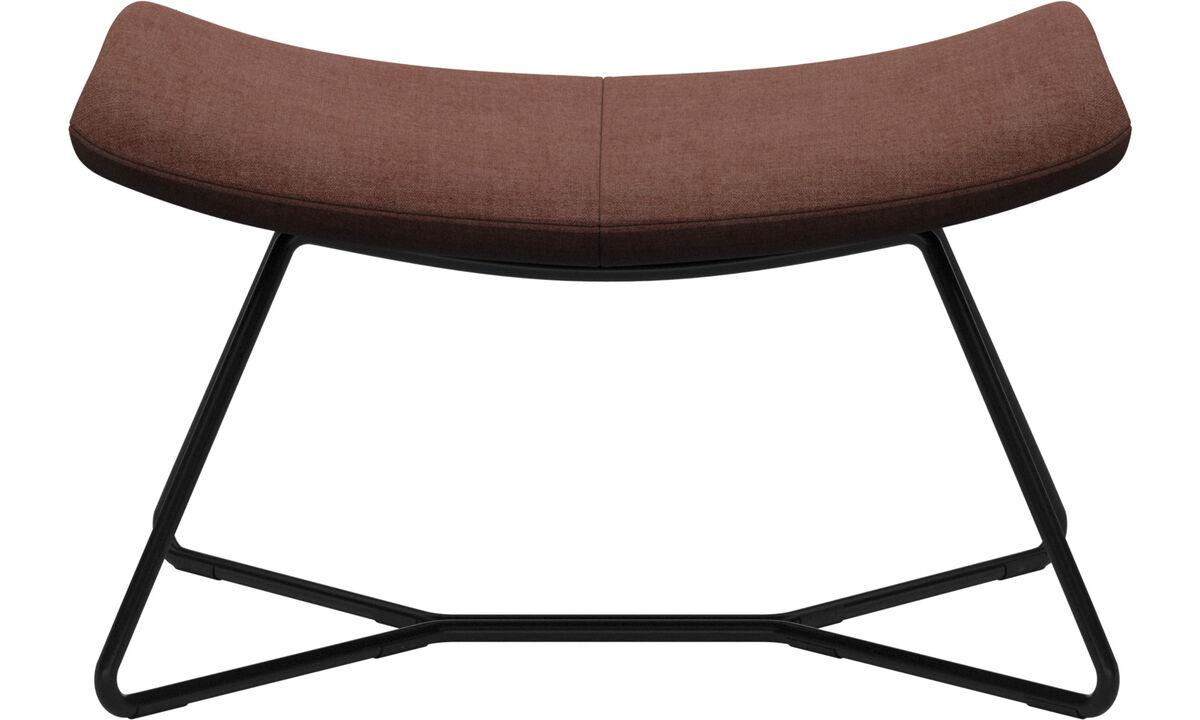 Footstools - Imola footstool - Red - Fabric
