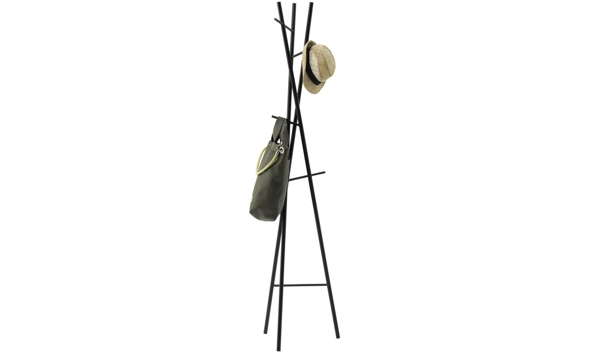 Hallway furniture - Metro coat stand - Black - Lacquered