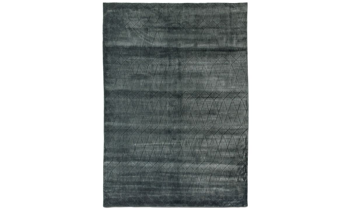Nye designs - Adamas rug - rectangular - Grå - Tekstil