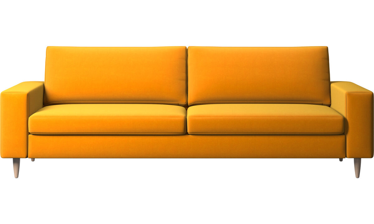 3 seater sofas - Indivi divano - Arancio - Tessuto
