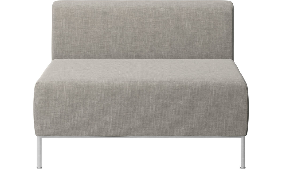Modular sofas - Miami seat with back - Grey - Fabric
