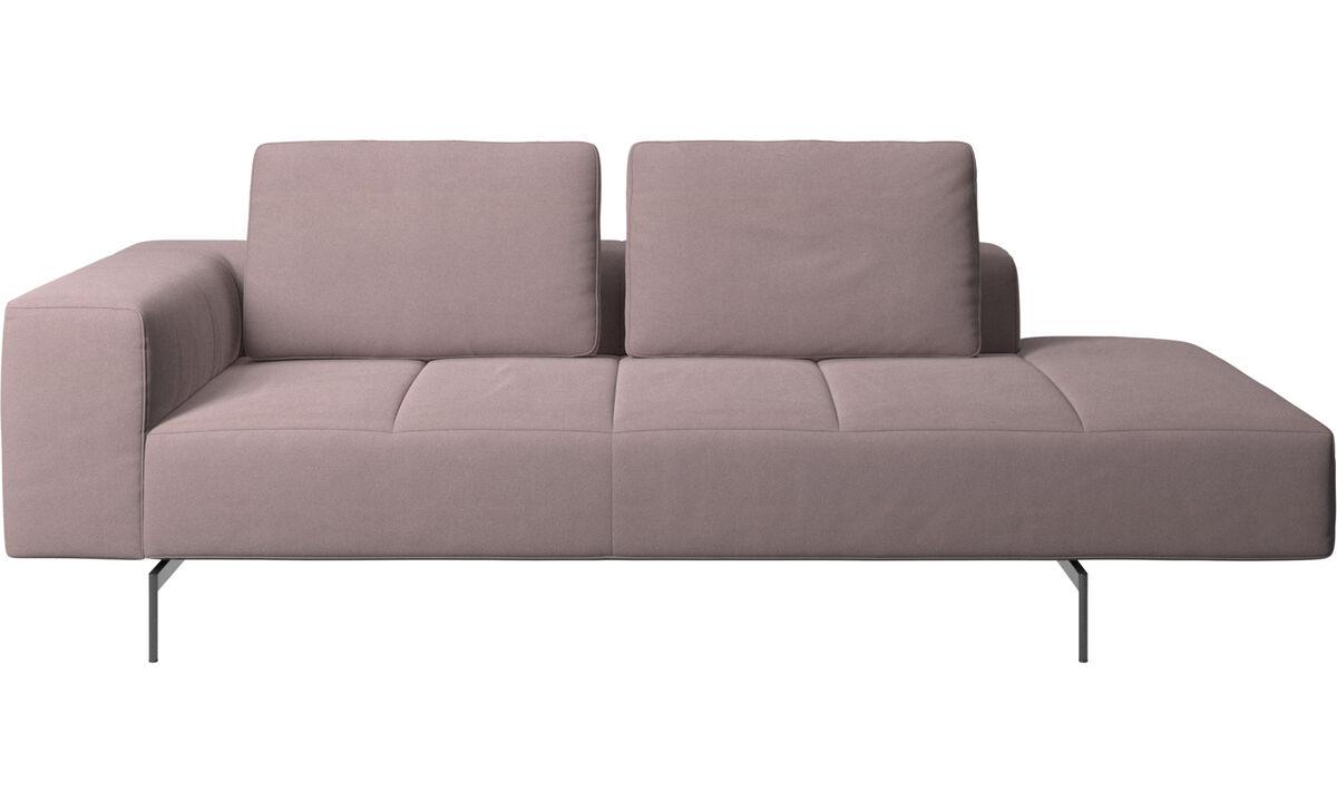 Sofás modulares - Módulo de descanso para sofá Amsterdam, reposabrazos izquierdo, lado derecho abierto - Morado - Tela