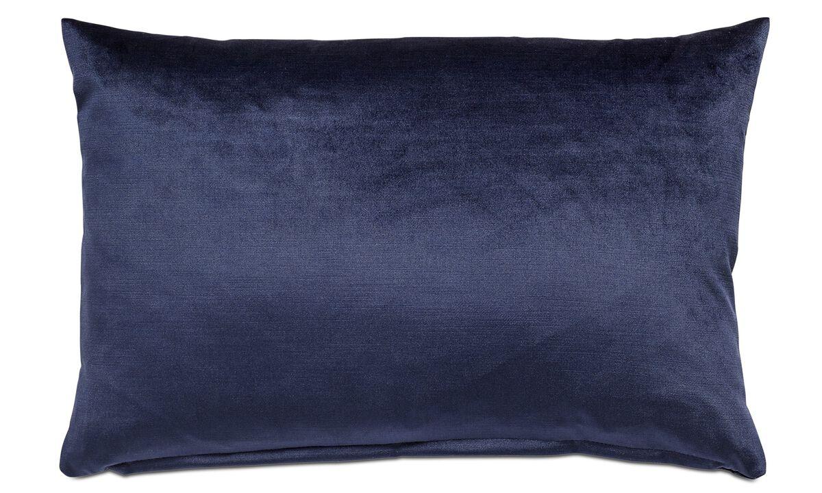 Velvet cushions - Velvet cushion - Blue - Fabric