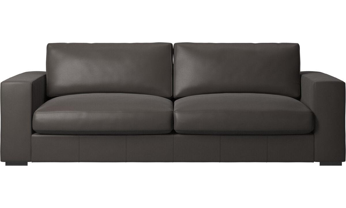 3 seater sofas - Cenova sofa - Brown - Leather