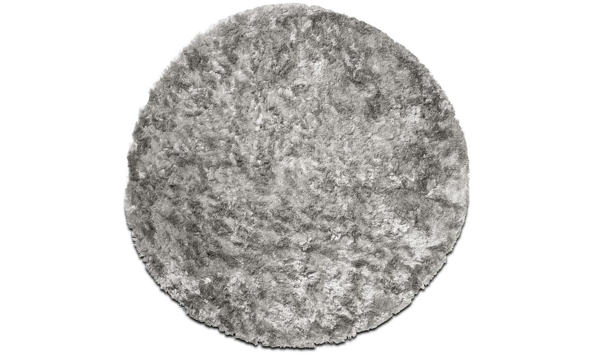 Rectangular rugs - Neat rug - round - Grey - Fabric