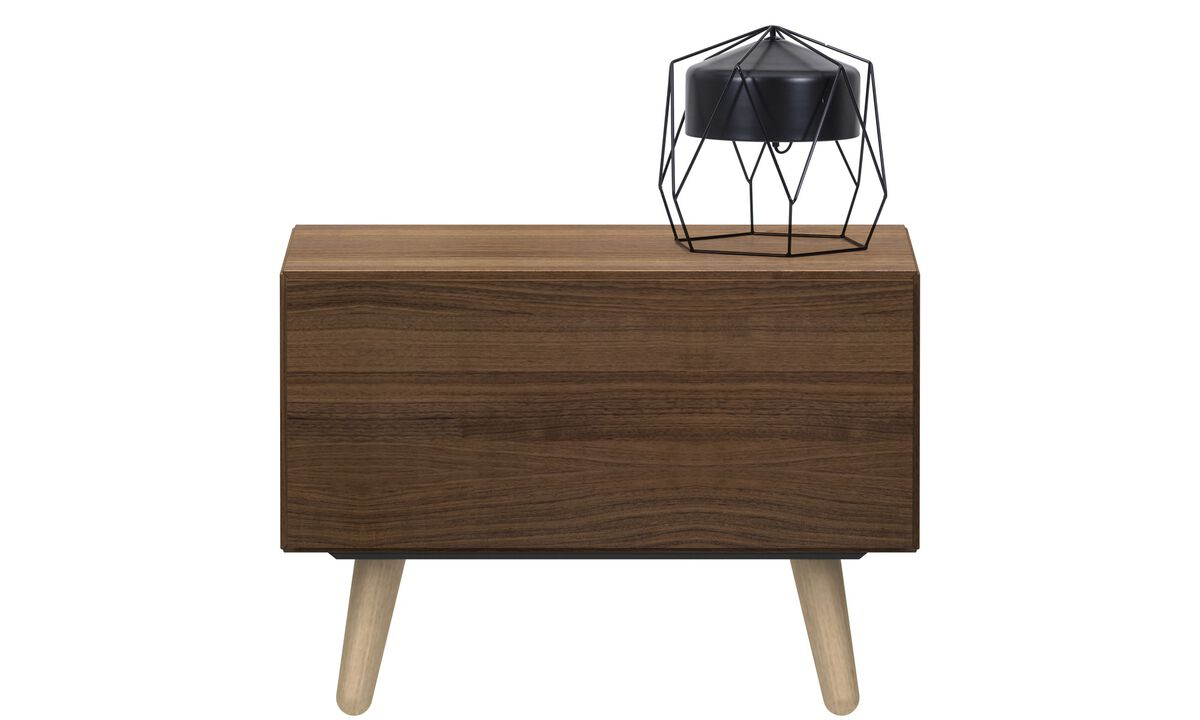 Night stands - Lugano night stand - square - Brown - Walnut