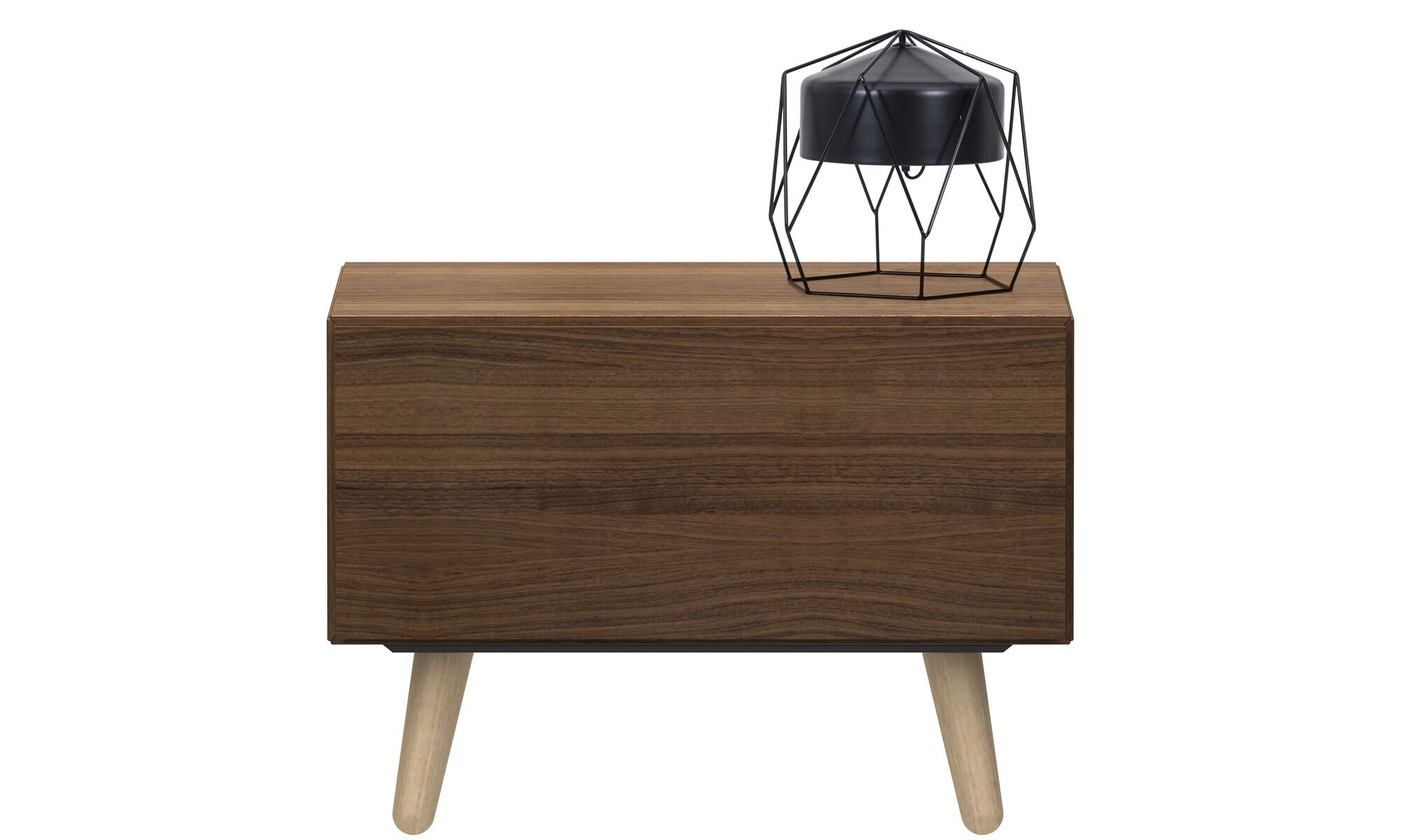 Nightstands   Lugano Nightstand   Square   Brown   Walnut