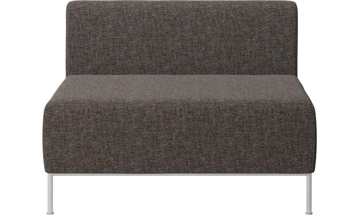 Modulære sofaer - Miami siddemodul med ryghynde - Brun - Stof
