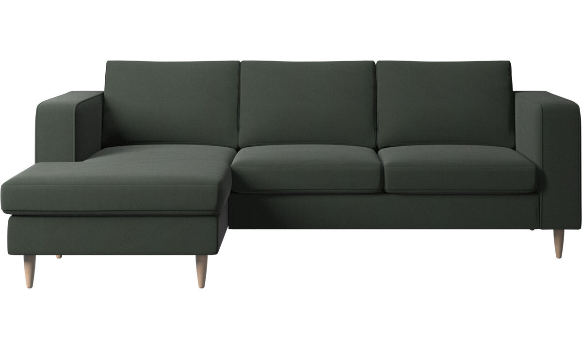 Chaise lounge sofas - Indivi sofa with resting unit - Green - Fabric