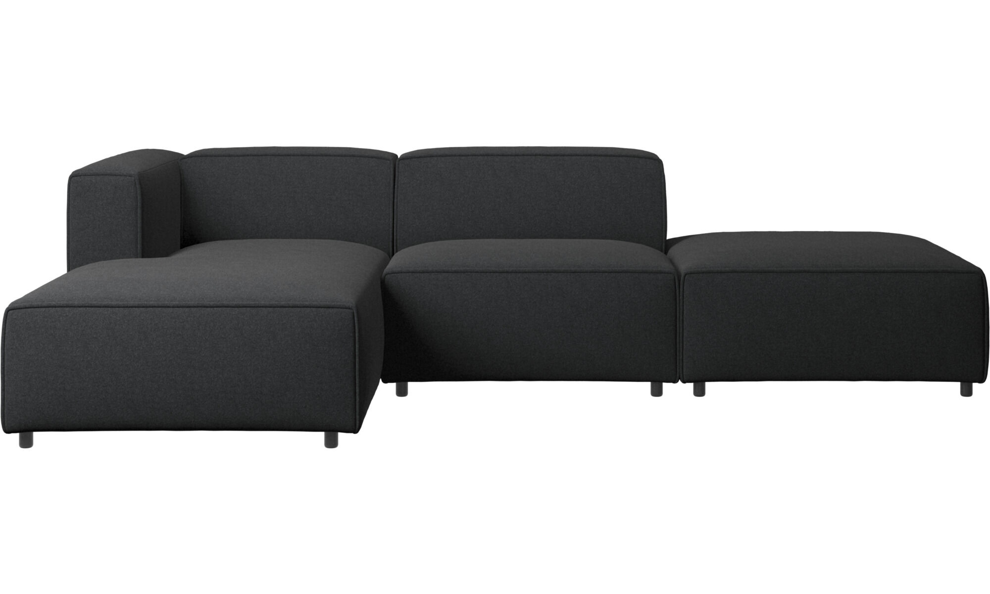 Chaise Lounge Sofas   Carmo Sofa With Lounging And Resting Unit   Gray    Fabric ...