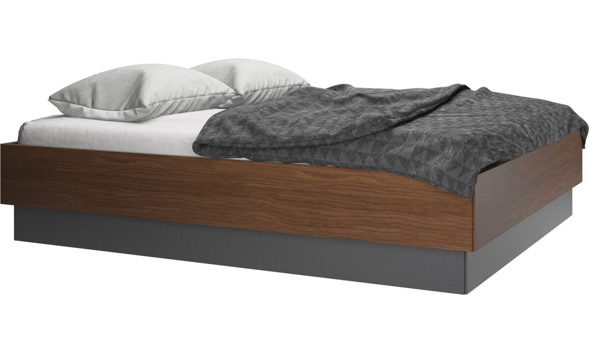 New beds - Lugano bed, excl. mattress - Brown - Walnut
