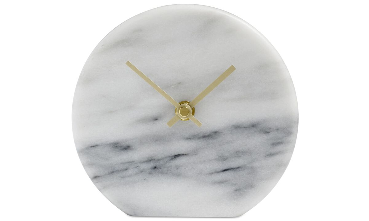 Clocks - Circle wall clock - White - Stone