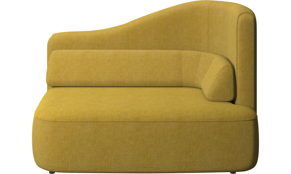 Modular sofas - Ottawa 1,5 seater right arm - Yellow - Fabric
