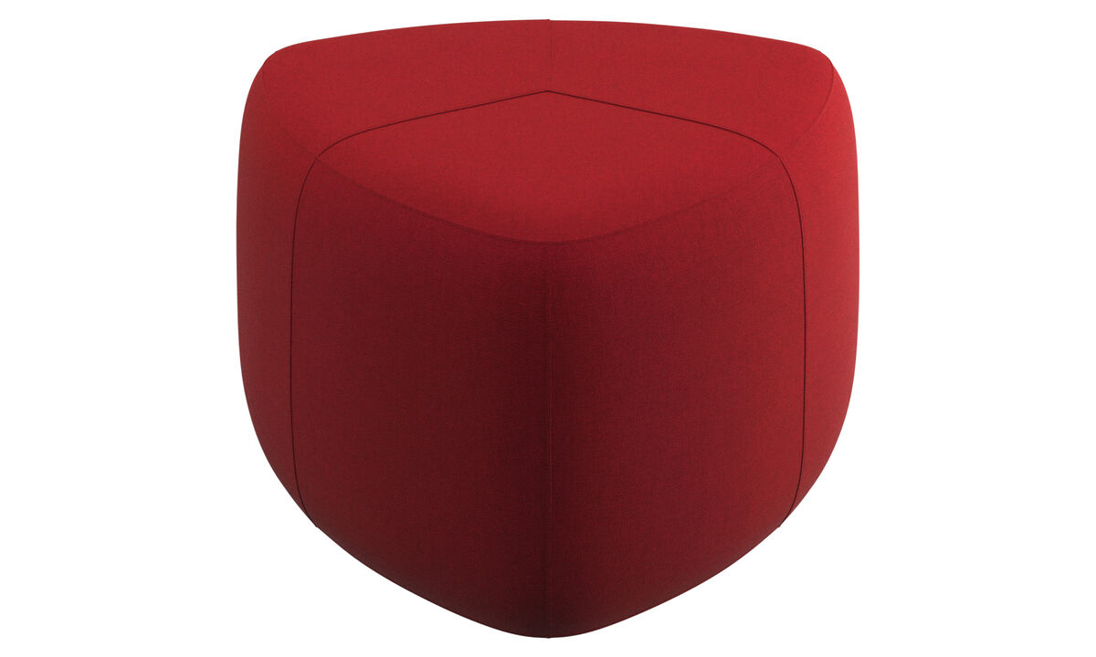 Footstools - Bermuda footstool - Red - Fabric