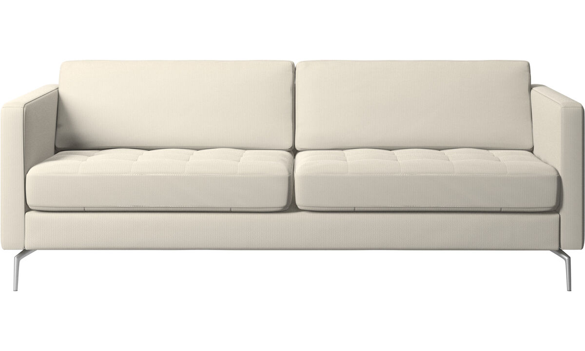 New designs - Osaka sofa, tufted seat - White - Fabric