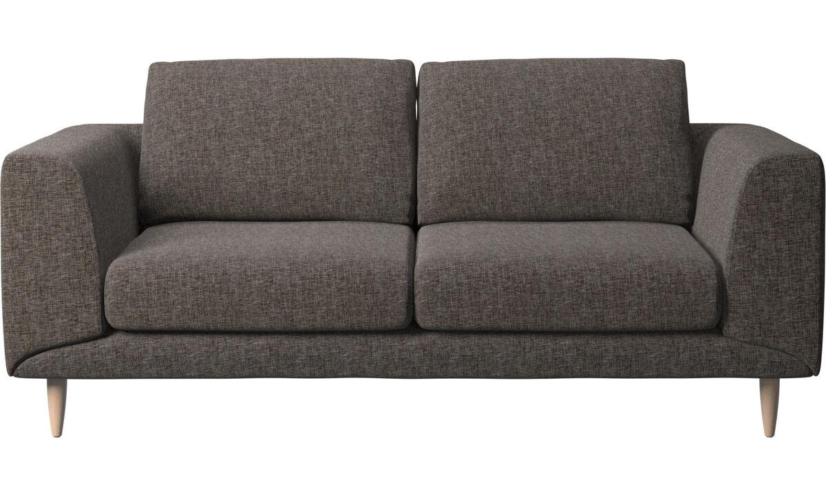 2-sitzer Sofas - Fargo Sofa - Braun - Stoff