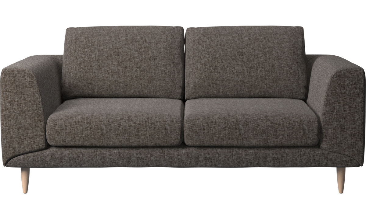 2 seater sofas - Fargo sofa - Brown - Fabric