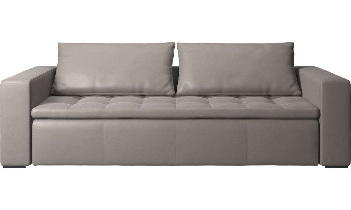 3 seater sofas - Mezzo sofa - Beige - Leather