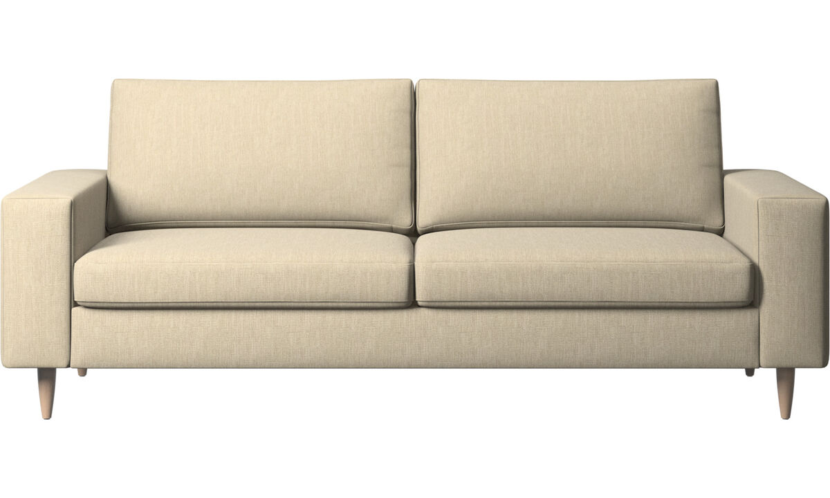 2.5 seater sofas - Indivi 2 sofa - Brown - Fabric