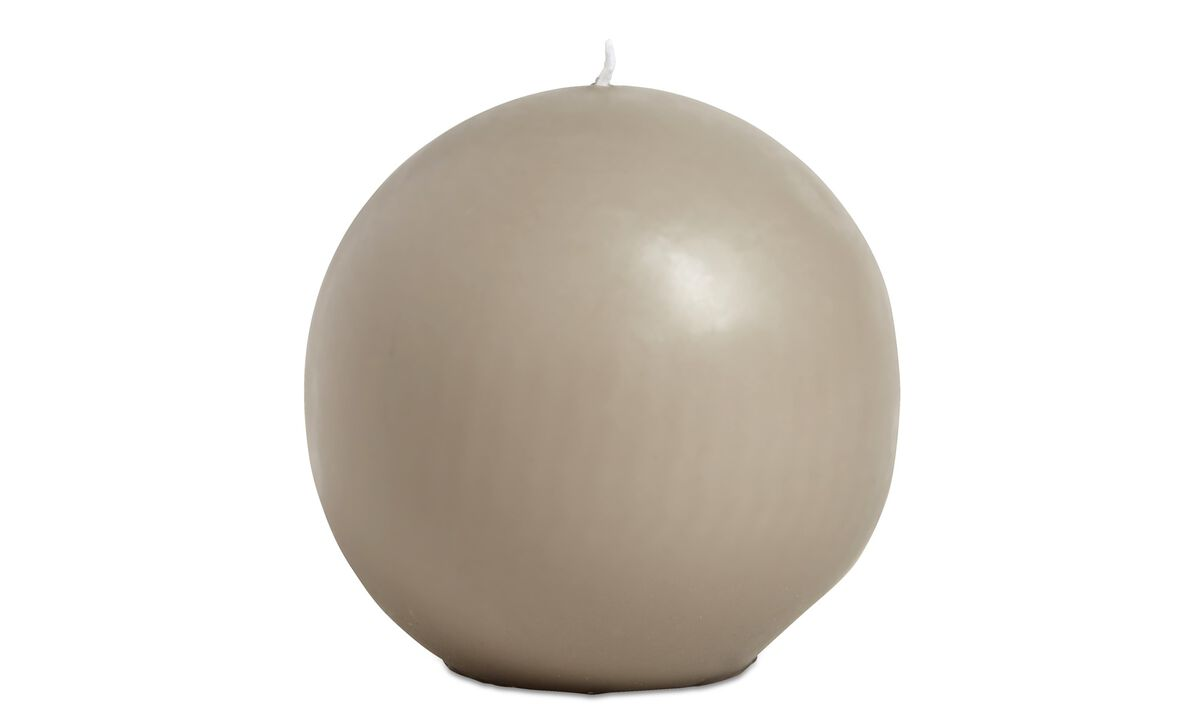 Dinnerware - Ro ball candle - Brown - Paraffin