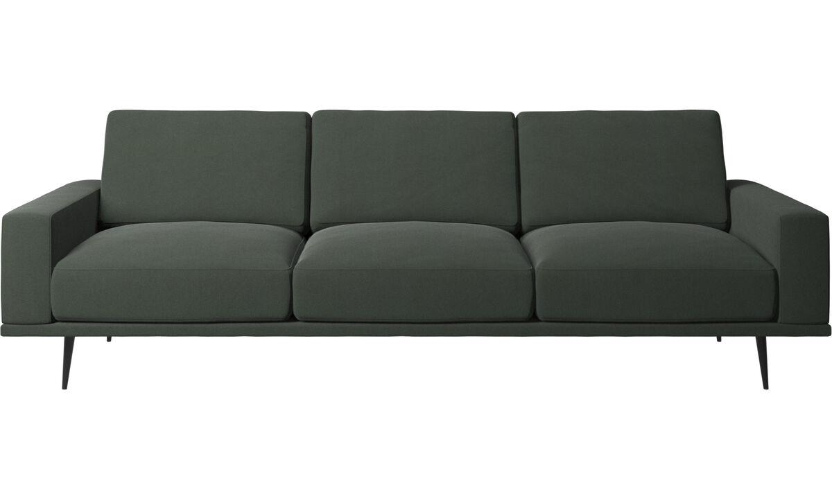Sofás de 3 plazas - sofá Carlton - En verde - Tela