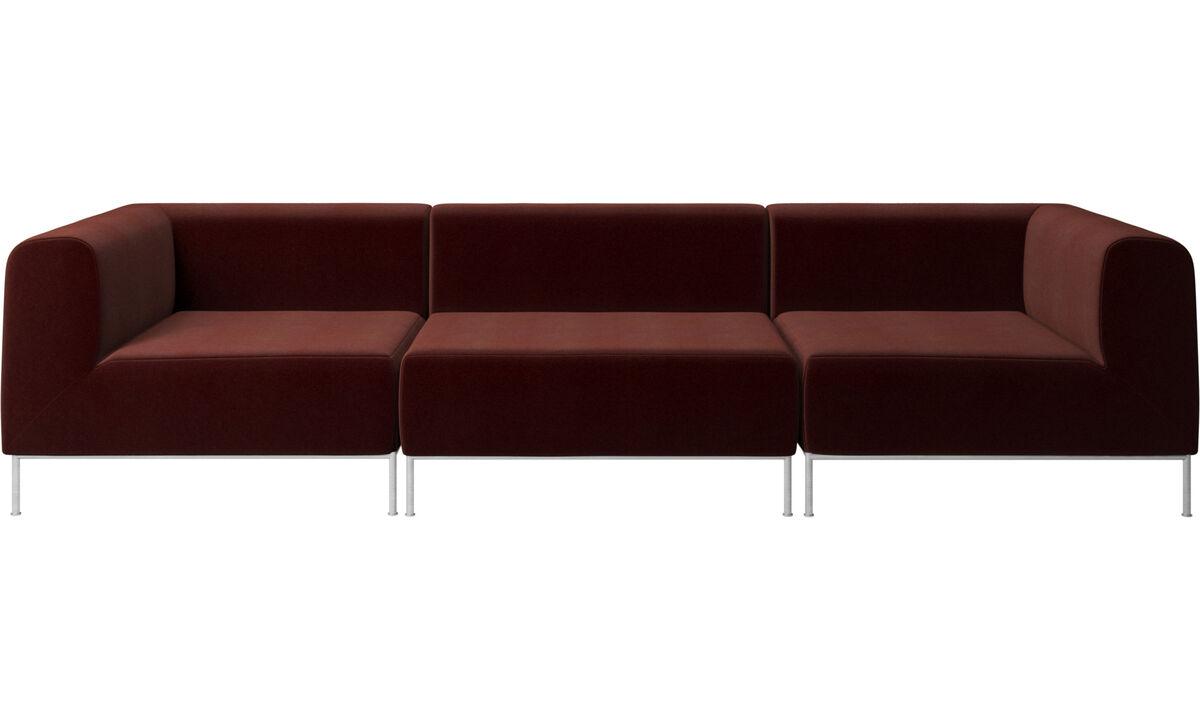 Modular sofas - Miami sofa - Red - Fabric