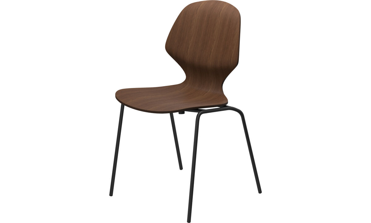 Dining chairs - Florence chair - Brown - Walnut