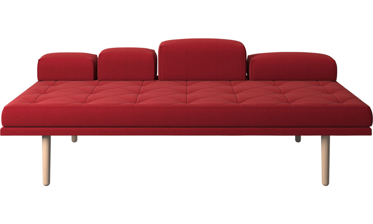 Chaises - Chaise-longue fusion - Vermelho - Tecido