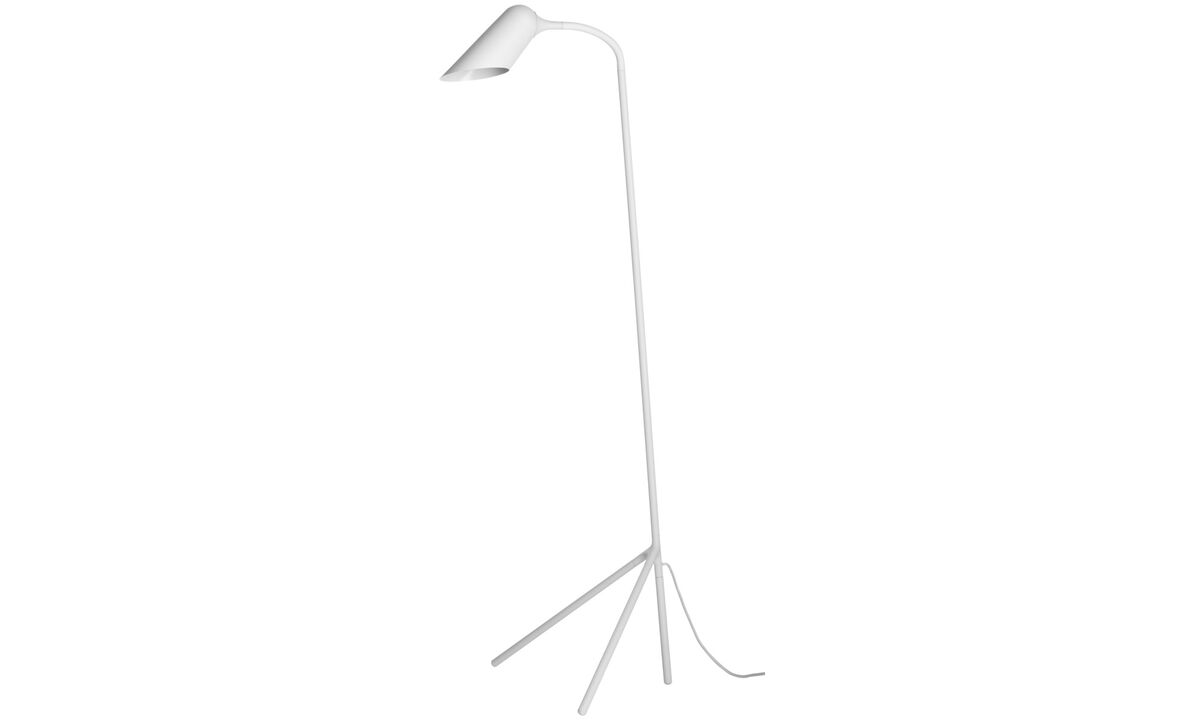 Table lamps - Curious floor lamp - White - Metal