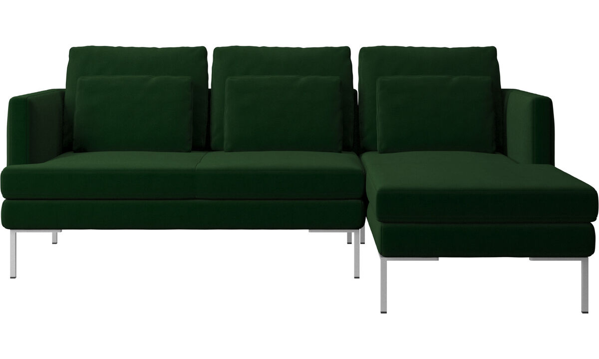 3 seater sofas - Istra 2 sofa with resting unit - Green - Fabric