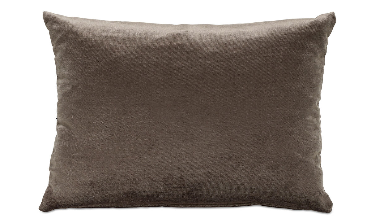 Cushions - Velvet cushion - Brown - Fabric