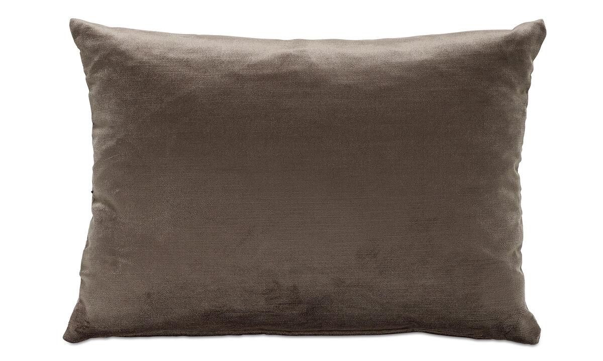 Cojines - cojín Velvet - En marrón - Tela