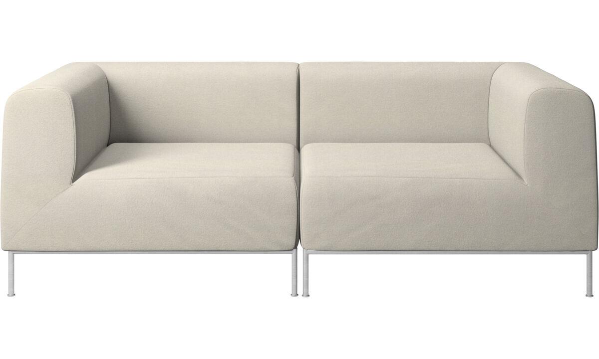 2 seater sofas - Miami sofa - White - Fabric