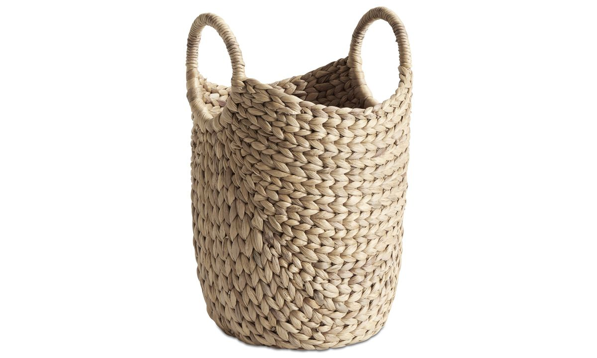 Móveis pequenos - cesto Hey - Bege - Vidro