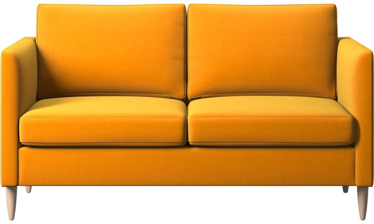Twee zitsbanken - Indivi zitbank - Oranje - Stof