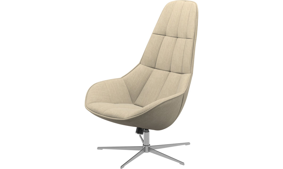 Armchairs - Boston chair with swivel and tilt function - Brown - Fabric