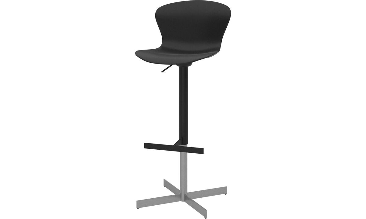 New designs - Adelaide barstool with gas cartridge - Black - Plastic