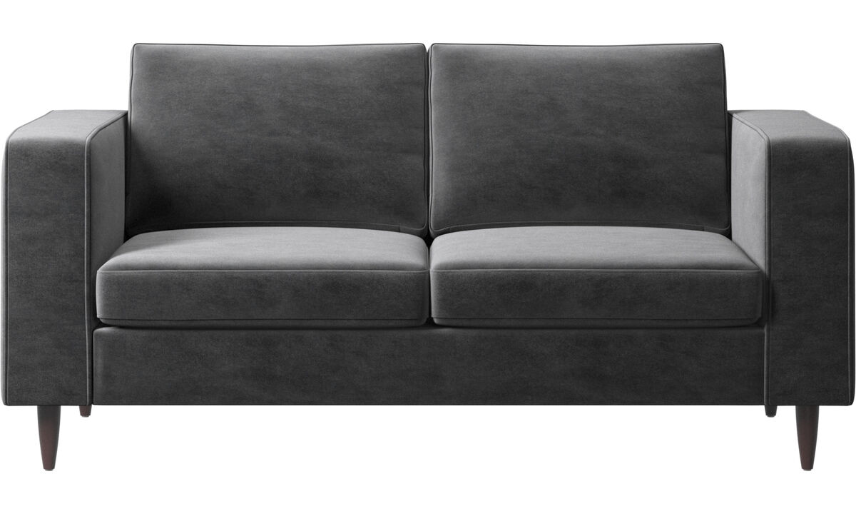 Sofás de 2 plazas - sofá Indivi 2 - En gris - Tela